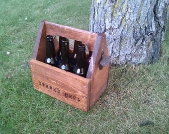 Personalized Beer Caddy, beer carrier with freezable insert