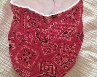 Pink bandana bib