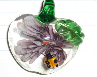 Murano Glass Apple Flower