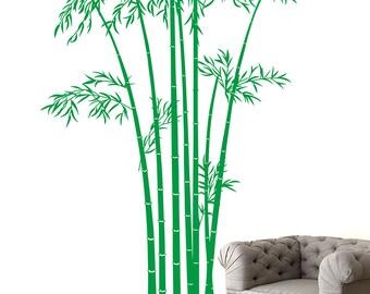 Bamboo tree wall decal-living room wall decal-tree wall decal-asian wall decal-tree wall art-tree wall sticker- vinyl decal-bamboo Tree