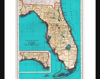 Florida Map - Print - Poster