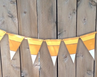 Candy Corn Pennant Banner