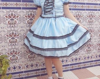 Blue Lolita Kawaii Dress.