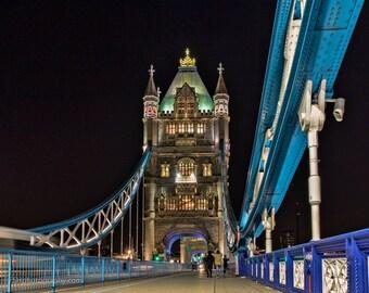 Tower Bridge walk path, London, England, Landscape Photography, Wall Art
