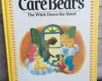 Vintage 1983 Carebears book, The Witch Down the Street, Carebears book, Vintage storybook, vintage Care Bear Story