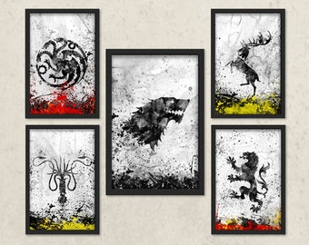 Game Of Thrones Wall Art game of thrones | etsy