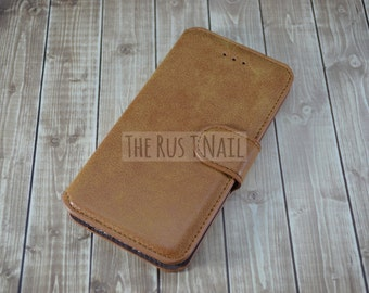 FREE SHIPPING - Brown iPhone 6s Wallet Case - Leather