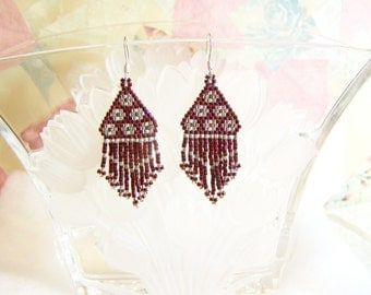 Flowers Beadwork Earrings