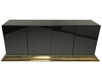 Black and Brass Sideboard By Elio