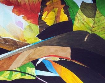 Dramatic Leaves 8x10 Giclee