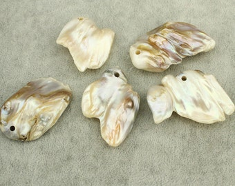 Irregular natural freshwater loose pearl,1pc loose pearls,high luster irregular loose pearls,natural loose pearls,20-35 mm*35-55 mm,WYJ-L043