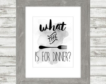 What The Fork Is For Dinner? - Art Print