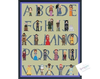 Game of Thrones Character Alphabet Cross Stitch DIGITAL PDF (pattern only)