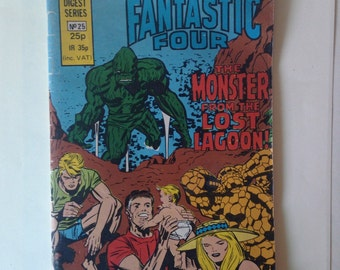 Vintage Collectible Comic Book Fantastic Four 1982