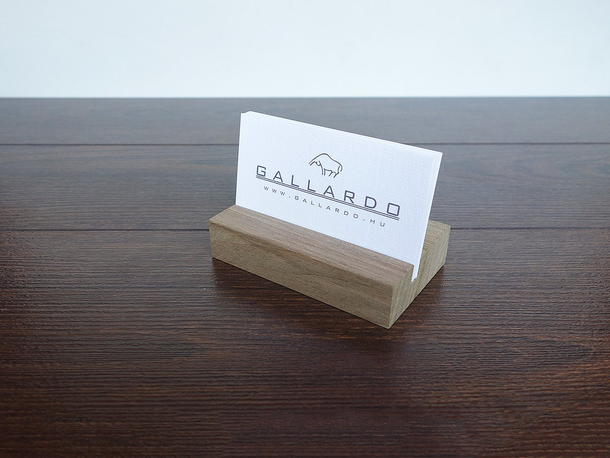 wood business card holder wood business card standwooden