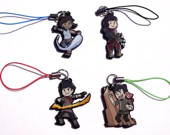 Legend of Korra Acrylic Charms - Korra - Asami Sato - Mako - Bolin