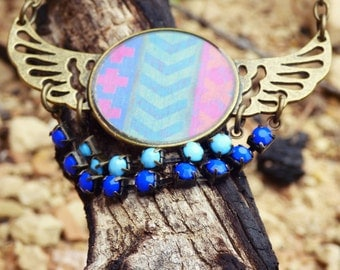 Boho wing necklace with arrow