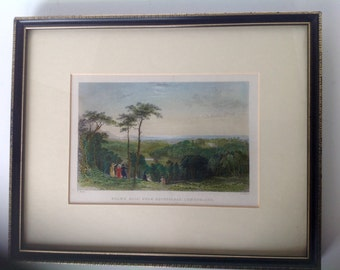 Pair of 19th Century Engravings of European Landscape hand colored