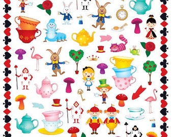 Alice in Wonderland Character Stickers