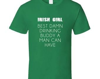 Irish Girl - Green  T Shirt