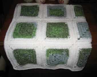 Baby Blanket Crocheted Granny Square
