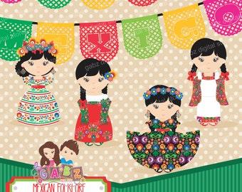 Mexican Folklore, Clipart, Aztec, Decorative, Mexican, Fiesta, Viva Mexico