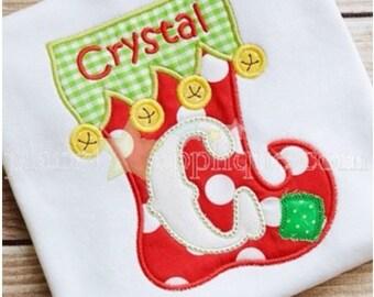 Christmas shirt, Girls Christmas shirt, Boys Christmas shirt, Christmas stocking shirt, Monogrammed Christmas shirt, Girls stocking shirt