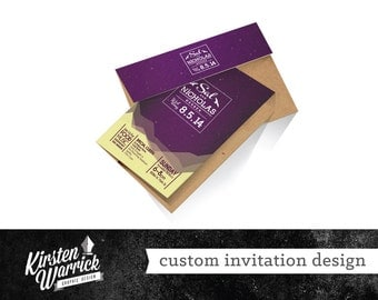 Custom Invitation Graphic Design - One of a Kind