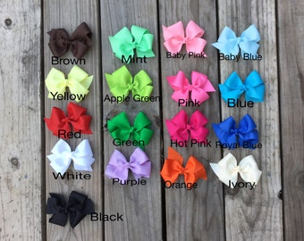 """Pick 4. Basic boutique hair bow headband. 4"""" to 4.5"""" hair bow. hair bow for girls"""