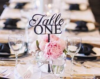 Classy, Elegant Table Numbers