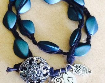 """Be Yourself Owl braided Wrap Bracelet """"boho-chic"""" by So Chic Wrap Bracelets"""