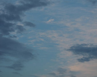 Shades of Blue, Cloud Photograph, Nature Photography, Sky Art, Wall Art, Home Decor