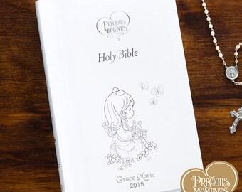 Precious Moments® Children's Personalized Bible - White