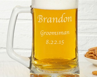 Groomsmen 25oz. Personalized Beer Mug