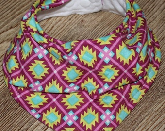 Drool Bib - Purple Aztec