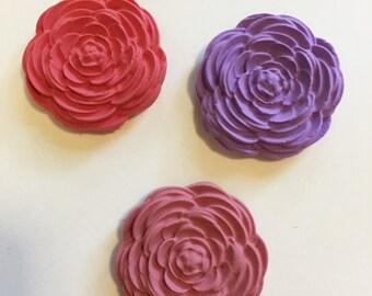 Set of 3 rose magnets