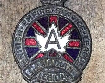 British Empire Service League Canadian Pin