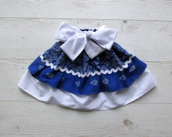 Girls Skirt, Blue Toddler skirt, Blue Girls Skirt, Toddler Ruffle Skirt, Baby Ruffle Skirt,  Girls Skirt , 2 Tiers Skirt, Tiered Skirt