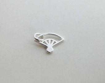 sterling silver fan charm sterling silver fan pendant 925 sterling silver