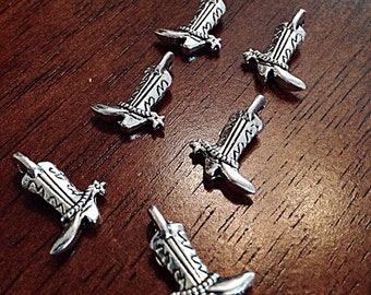 Bulk 20 Boot Charms, Antique Silver Charms, Cowgirl Boot Charms, Boot Charms, Cowboy Boot Charms, Jewelry and Craft Supplies, Findings