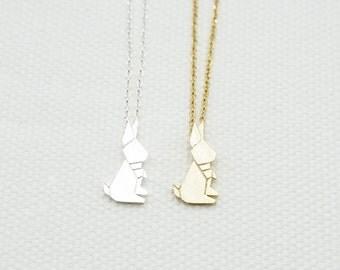 Origami Rabbit Necklace