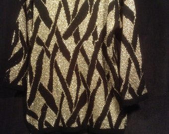 Vintage 80s Black and Gold Sweater