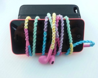 Rainbow Wrapped Earpods, Earphones, For iPhone, iPod, iPad