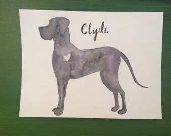 Custom Dog Watercolor Painting