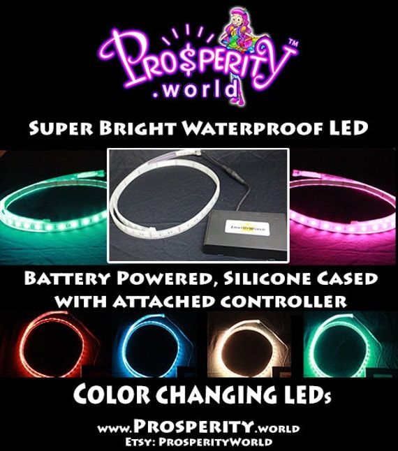 Items similar to color changing led rope rgb light w built for Led lights for craft projects