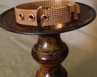 Vintage 1950's Avon Gold Buckle Bracelet
