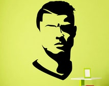 Popular items for cristiano wall mural on etsy for Cristiano ronaldo wall mural