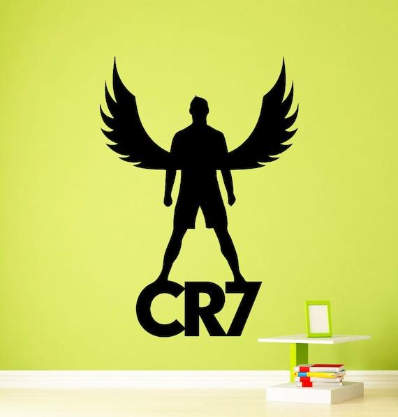 Cristiano ronaldo wall vinyl decal real madrid cr7 sticker for Cristiano ronaldo wall mural