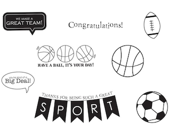40% OFF - Unity Stamps Making the Team Cling Stamps