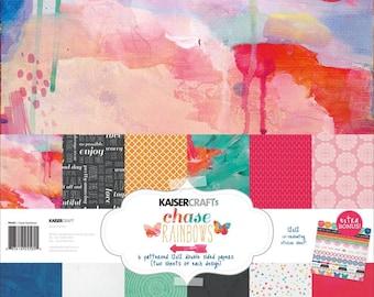 KaiserCraft Chasing Rainbows Scrapbook Paper Collection Kit